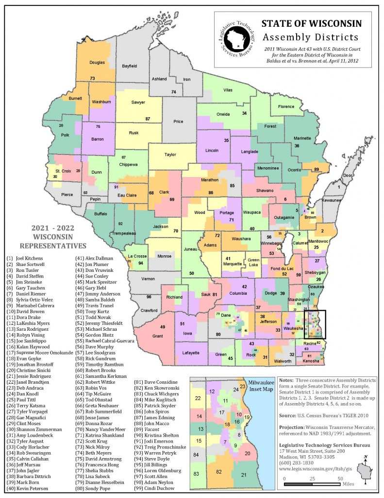 Statewide Assembly Map 2021-2022